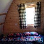 Inside lodge ( bedding our own )