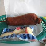 Corn Dog and Apple Slices