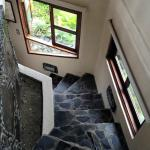 stairway to the bathroom from the 360 degree room
