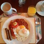 Our full English breakfasts! Yum!!