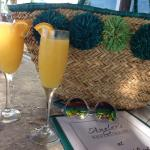 Morning chillaxin islandstyle with mimosas
