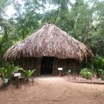 Typical Maya house with assorted items inside