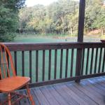 View from the porch of Gander cabin, lots of space to play!