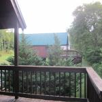 View from the Gander porch towards the other cabins