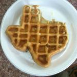 Waffle shaped like Texas. :-)