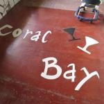 Coral Bay sign in the entrance floor