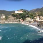 View of Monterosso al Mare from hiking trail to Vernazza