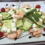 La salade de crevettes à 14€