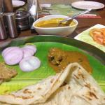 Parota with mutton curry