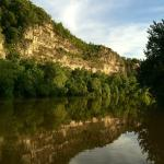 Bluff across the river