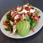 House chopped salad with rotisserie chicken