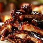 Slow cooked St louis Ribs
