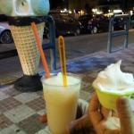 Granita e gelato limone