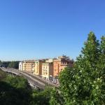 View from the window, Tiburtina station just to the left