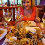 Seafood Platter at Marisquiera Snappers in La Fortuna