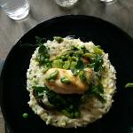 Monk fish on verde risotto
