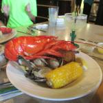 Lobster, steamers and corn
