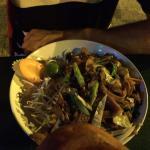 Essen und Speisekarte