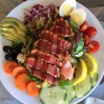 Fantastic tuna salad, lovely grilled salmon. Friendly staff.