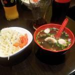 salade + soupe miso