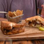 Grilled Apple Pie sandwich with chicken
