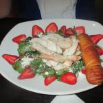 Strawberry Pecan Spinach with Chicken salad $ 10.50