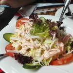 Messy crab salad
