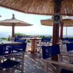 Relax at the seafront cafe day and night!