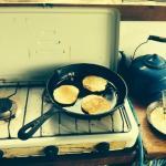 Making banana pancakes every morning