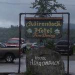 Adirondack Hotel - sign on road