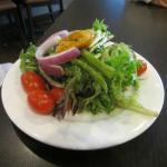 Small garden salad.