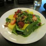 Small spinach salad.