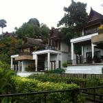 View of the different villas