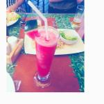 1st place Watermelon Smoothie with real deal watermelons!!! And ananas rice!!!! Mind bowing!!! :