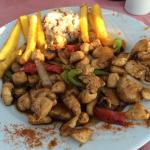 Stir fry chicken is totally amazing!!!!  Great service relaxing setting ☀️✔️