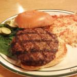 My 1/3 lb. Buffalo burger with hash browns
