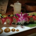 The DRAGON roll w/ Chipotle-Habenero sauce...delicious!