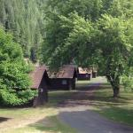 Cabins along the river