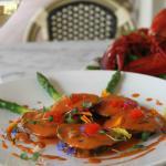 Lobster and Ricotta Stuffed House Made Black Ink Ravioli