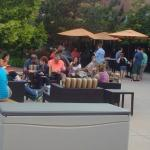 Friends and Family gathering on the patio
