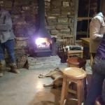 Bar area with nice fireplace