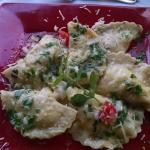 Best crab and leek handmade ravioli ever!