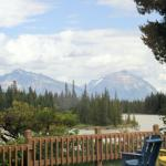 View of Athabasca River from Becker's Chalets