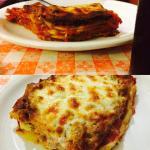 lasagna as big as a shoebox !