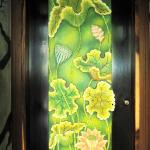 The 3D painting on The Lotus room door.
