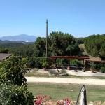 View of Val d'Orcia with Mt.Amiata in the background