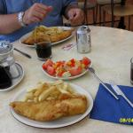 Our fish and chips from Eskdale