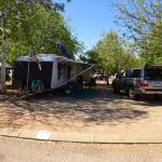 One of the sites in Kimberley Entrance Caravan Park