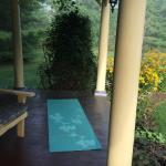 Perfect spot for your morning yoga on the porch!
