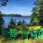 Beautiful view from the lookout in Muskoka chairs